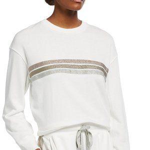 NWT Rails Ramona Metallic Stripe Sweatshirt XS
